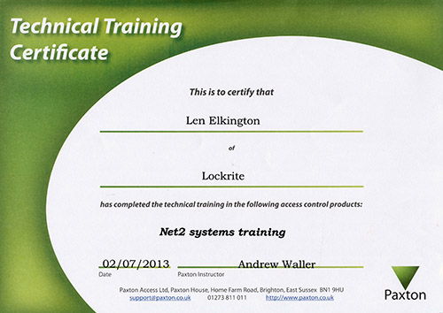Net2 systems training locksmith