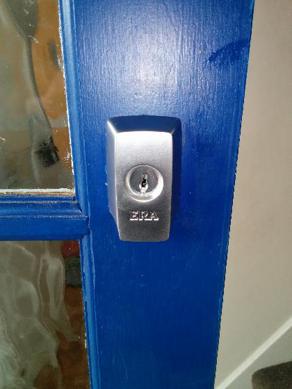 Old Rim Cylinder/Nightlatch replaced with new British Standard version