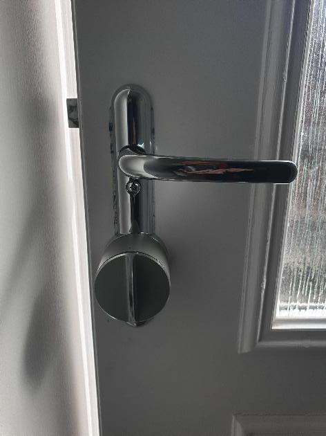 Smartlock fitted allowing keyfree access
