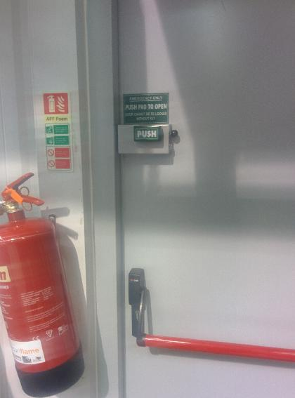 Cooper Bolt aids security on Fire Exit