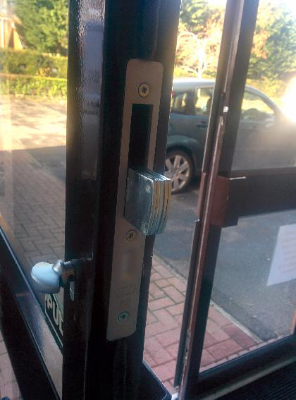 New metal door Deadlock fitted to commercial unit